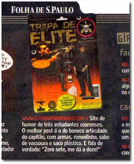 Eu Podia Tá Matando na Folha de São Paulo