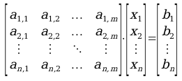 Matriz sistema