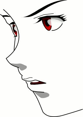 Anime face gits ghost in the shell desenho feminino garota Motoko Kusanagi
