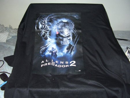 Camiseta do filme Alien Vs Predador 2