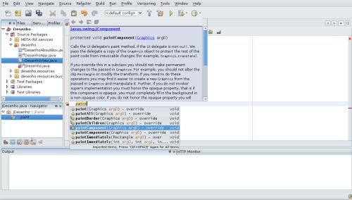Editor com dica de código