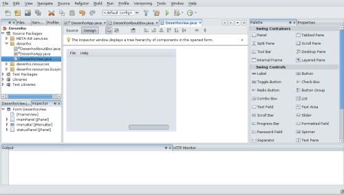 Ambiente Netbeans com o projeto já inicializado