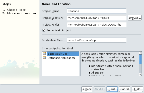 Janela New Desktop Application