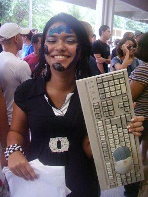 Bichete ganhou um teclado sem fio