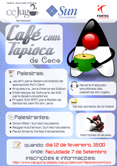 Poster do Café Com Tapioca de Fevereiro