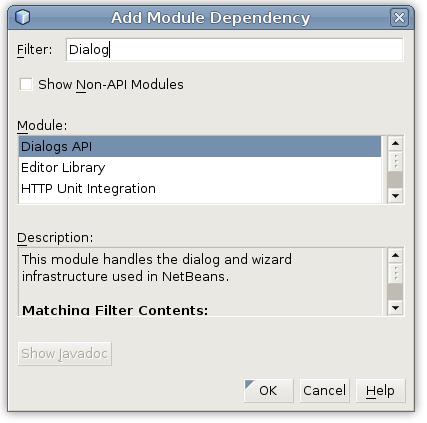 Netbeans Dialogs API