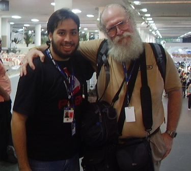 "Eu e o Jon ""maddog"" Hall no Campus Party Brasil"
