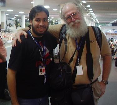 "Eu e o Jon ""maddog"" Hall no Campus Party Brasil"