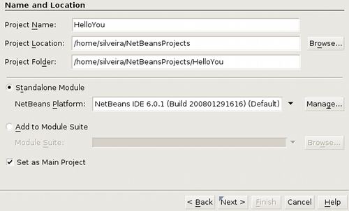 Netbeans Module Name and Location