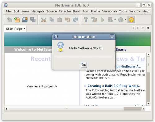 Netbeans Hello World