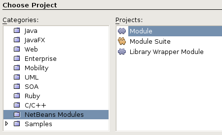 Netbeans New Module