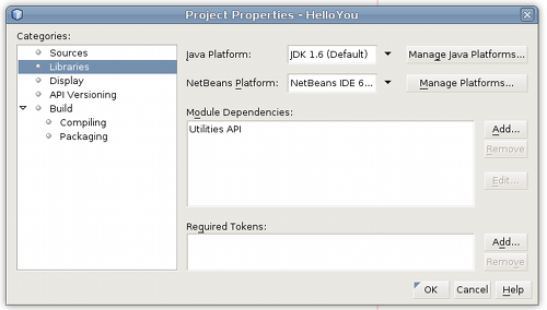 Netbeans Project Properties