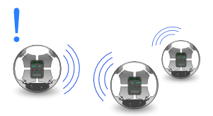 Spheres robots talking