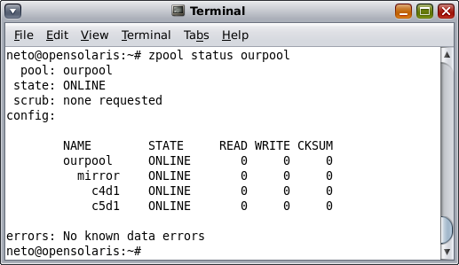 Trying to corrupt data in a zfs mirror silveira neto for Show pool status pgpool