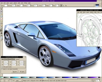 Inkscape running