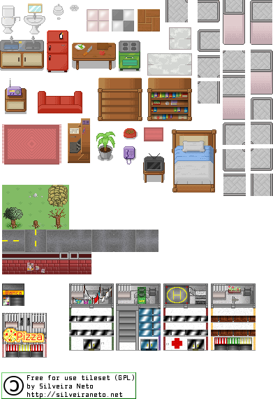 GPL PixelArt TileSet Version 4