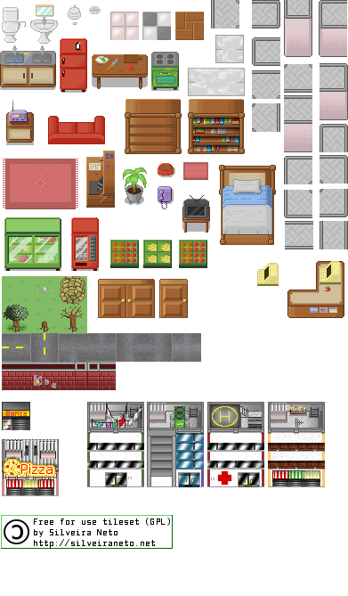 GPL PixelArt TileSet version 5