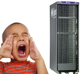 kid shouting sun server