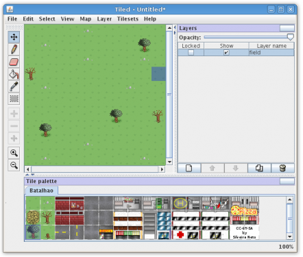 tiled field