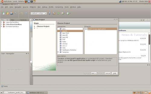 netbeans javafx linux step 10