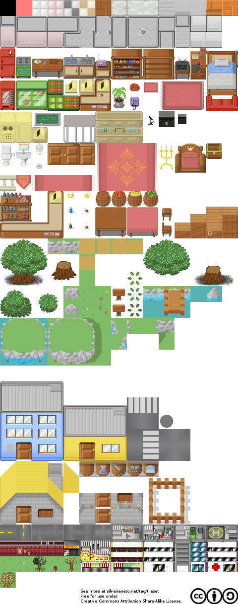 pixelart free tileset version 10