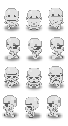pixelart imperial stormtrooper