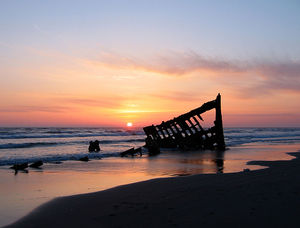 Sunset Peter Iredale