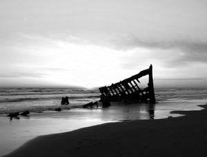 value sunset Peter Iredale